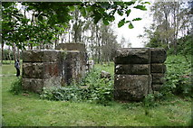 SK2479 : Ruined engine house, Bole Hill Quarry, Derbyshire by Graham Hogg
