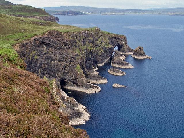 Caves, sea stacks and natural arches © Richard Dorrell cc ...