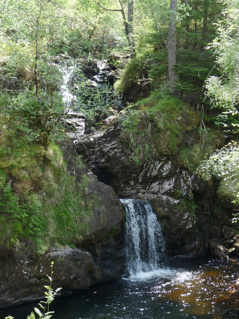 Waterfall on the Allt Ladaidh, Glengarry Forest