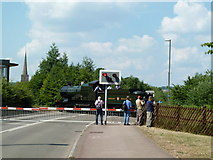 SO6302 : Level crossing by Lydney Junction Station by Chris Allen