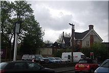 TQ3473 : Car park, Grove Tavern, Dulwich Common by N Chadwick