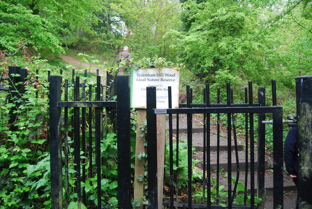 Entrance to Sydenham Hill Nature Reserve.