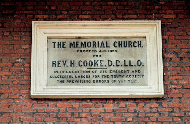 Henry Cooke plaque, Belfast