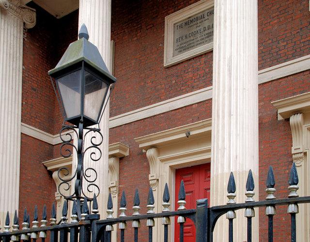 Church lamp and railings, Belfast