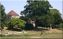 SU8518 : Bepton church and churchyard seen from Bugshill Lane by Shazz