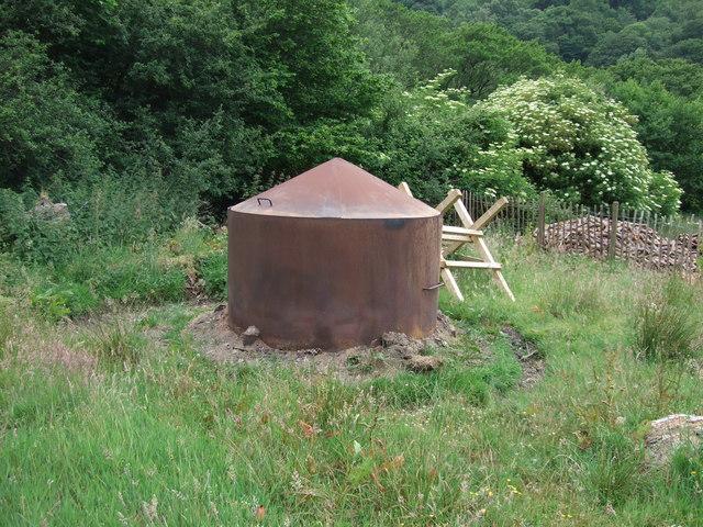 Charcoal kiln beside Aber Falls trail