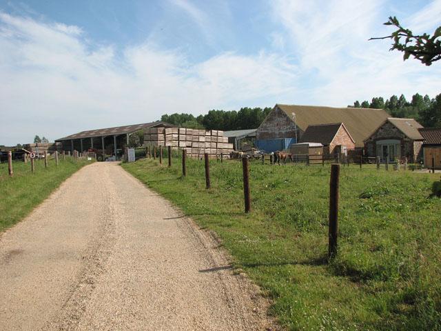 Access road to Manor Farm, Coxford