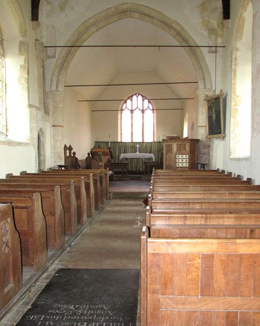 All Saints' church in Tattersett - view east