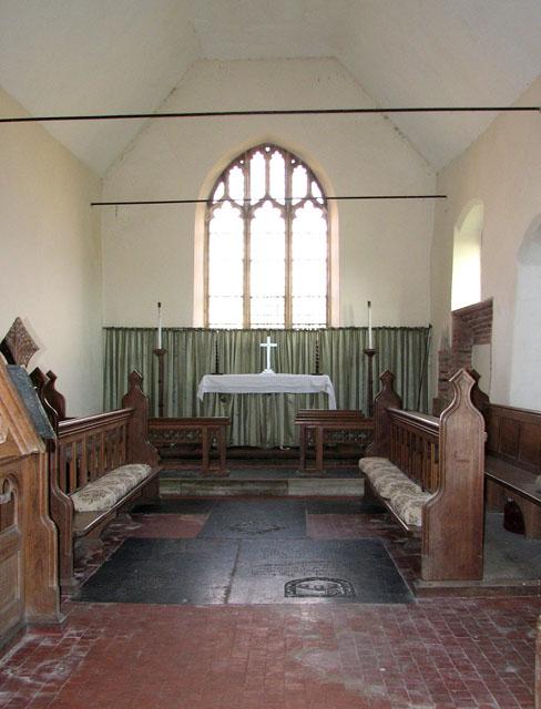 All Saints' church in Tattersett - the chancel