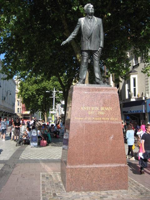 Aneurin Bevan Statue 169 Philip Halling Geograph Britain And Ireland