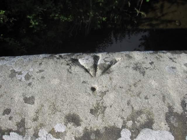 Pivot bench mark on Leeswood Bridge