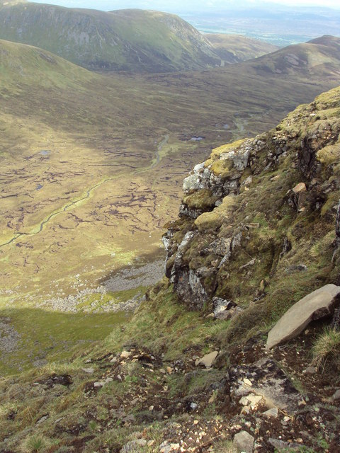 Crags & steep escarpment of Carn Dearg