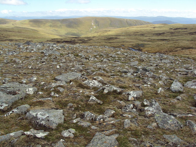 Stony ground on  Meall na Creughaich