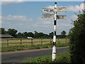 SJ7365 : Old signpost on Jones's Lane (2) by Stephen Craven