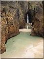 SW3523 : Gap in the cliff, Nanjizal Bay by Philip Halling