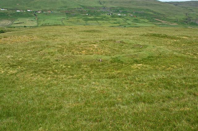 Hut circle south of Glen Uig