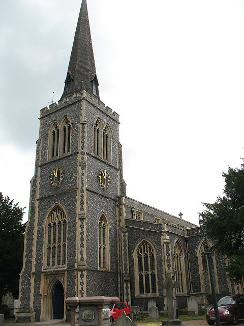 St Mary's church, Wimbledon: tower
