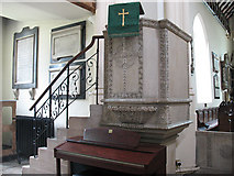 TQ2471 : St Mary's church, Wimbledon: pulpit by Stephen Craven