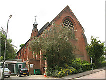TQ2470 : St John the Baptist church and hall, Wimbledon by Stephen Craven