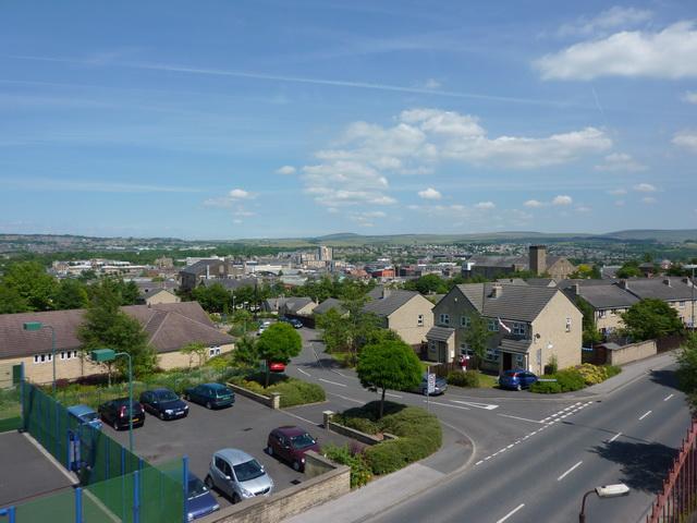 View of Burnley from Raglan Road footbridge