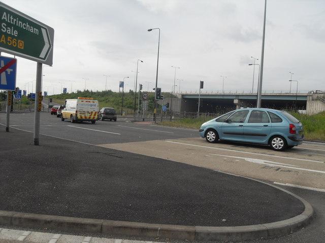 A56 Road Junction - Near J7 M60