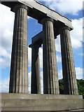 NT2674 : National Monument pillars, Calton Hill by kim traynor
