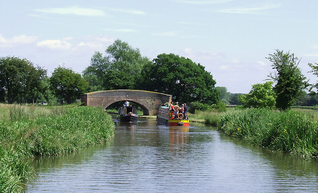 Trent and Mersey Canal near Bishton, Staffordshire