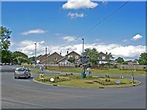 TA1181 : Roundabout on the outskirts of Filey by Steve  Fareham