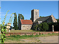 TM4593 : St Mary's church in Aldeby by Evelyn Simak