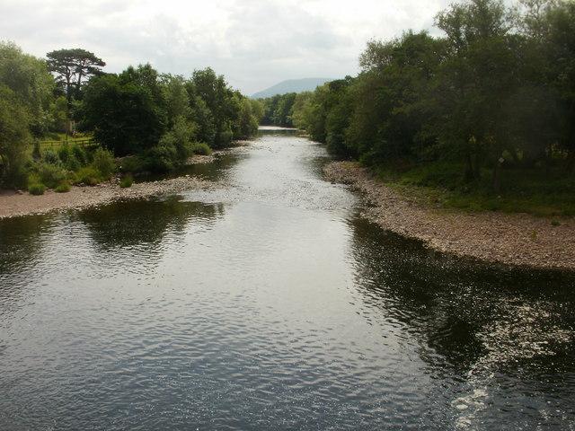 River Usk downstream from Crickhowell Bridge