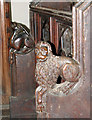 TF6120 : St Nicholas' Chapel in Kings Lynn - C15 elbow rests by Evelyn Simak