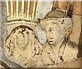 TF6120 : St Nicholas' Chapel in Kings Lynn - stone heads in porch by Evelyn Simak