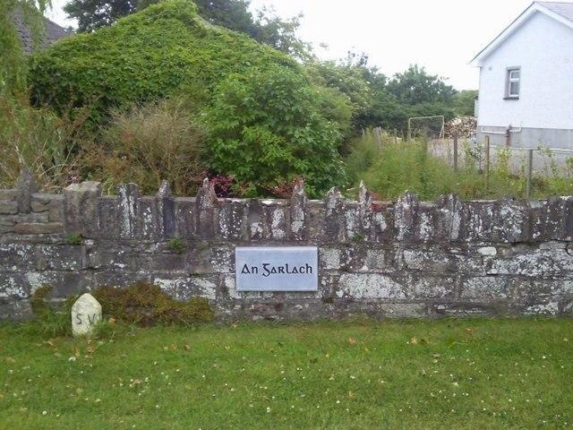 Name plaque on bridge, Garlow, Co Meath