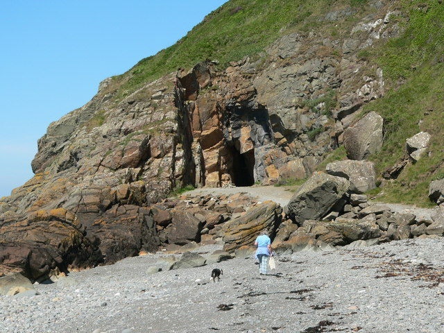 Approaching St. Ninian's Cave