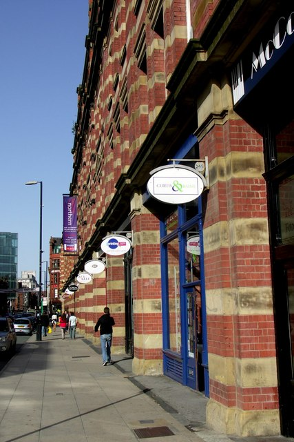 Looking north along Deansgate