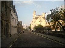 SP5106 : Merton Street, Oxford on a summer's evening by Marathon