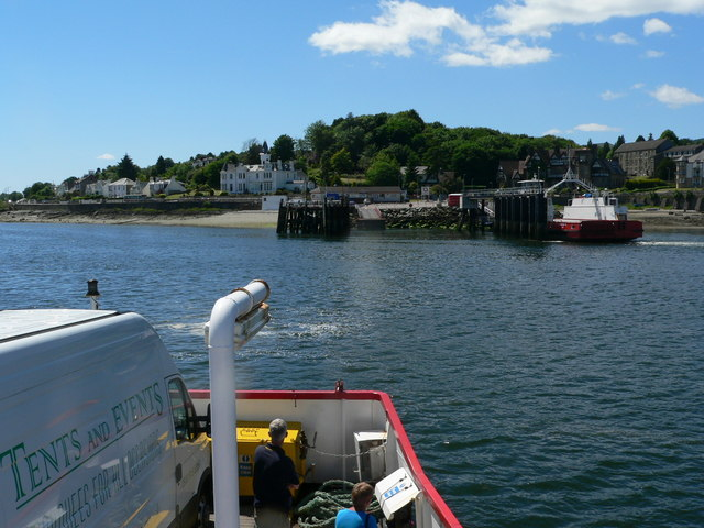 Ferry into Hunters Quay, by Dunoon