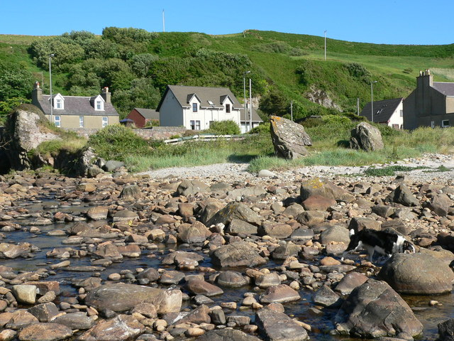 Beach in front of Crubasdale Cottage