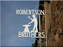 NT5173 : East Lothian Townscape : Robertson Brothers (Engineers), St Martin's Gate, Haddington - company sign by Richard West
