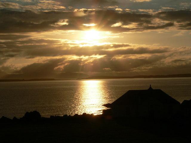 Sunset at A' Chleit church