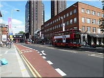 TQ3179 : Buses in Waterloo Road by Basher Eyre
