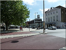 TQ3179 : Looking from Waterloo Road towards The Old Vic by Basher Eyre