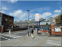 TQ3179 : Zebra crossing at the back of Waterloo Station by Basher Eyre