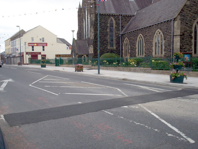 New Pedestrian Zone,Church Street alongside St. Mark's Church