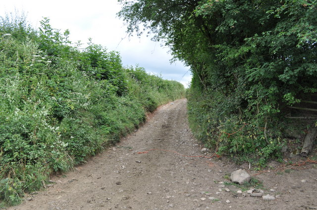 Section of track from Tump Farm to Pighole Pill