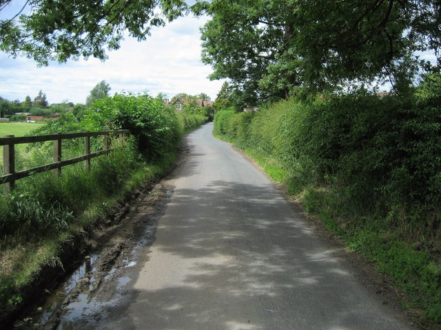 Sockburn Lane approaching Neasham