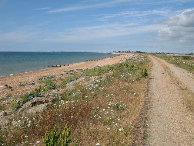 Beach next to Hythe Ranges