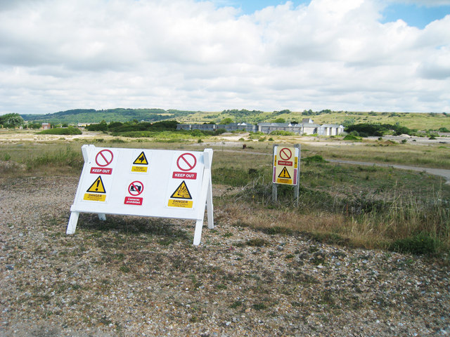 Hythe Ranges Keep Out Signs
