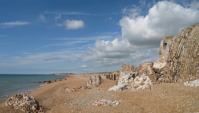 Remains of Martello Tower number 19, Hythe