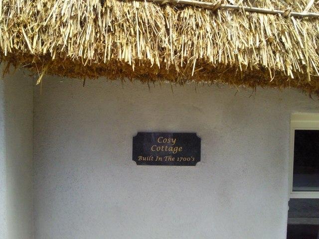 Plaque, Thatched Cottage, Co Dublin